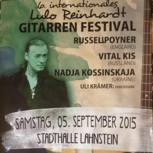 Russell Poyner Lulo Reinhardt Gitarren Festival